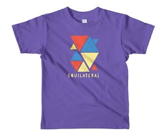 Montessori Equilateral Triangle Materials short sleeve kids shirt