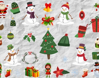 32 Christmas Characters & Snowmans