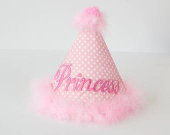 Girls Birthday Hat, Birthday Hat , Cake Smash Hat, Photo Prop Hat, 1st Birthday Hat, Princess Hat