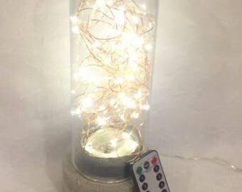 This is a handmade lamp