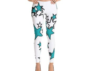 Leggings Blue and Black Stars