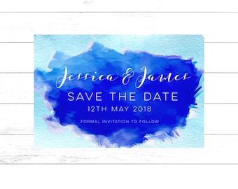 Watercolour Save The Date Postcard Magnets Destination Wedding