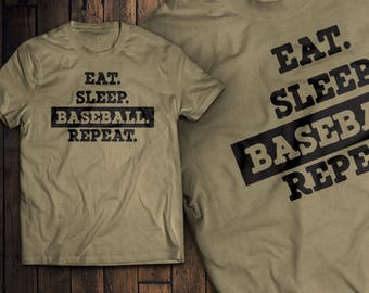 Eat Sleep Baseball Repeat T-Shirt