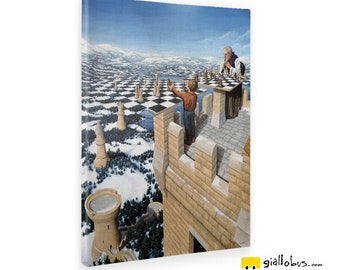 Canvas Canvas Prints-Rob Gonsalves-chess Master-Yellow BUS