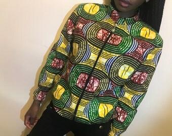 Exclusive African/Ankara/Kent print jacket