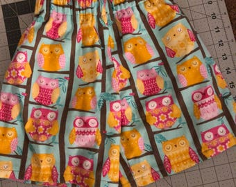 Adorable owl pj shorts