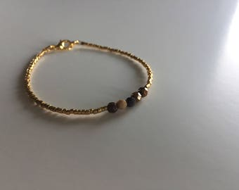 Bracelet with facet beads