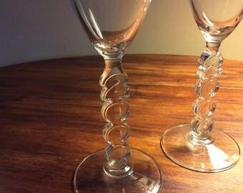 Year 2000 champagne glasses