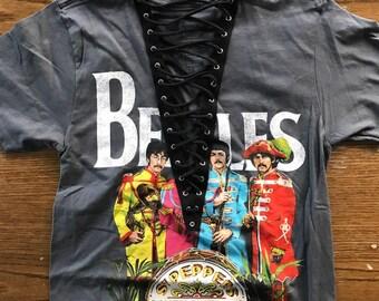 Beatles Lace Up Shirt