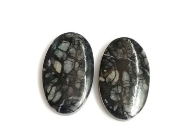 Picasso Jasper Oval Pair Cabochon,Size- 23x14 ,MM,Natural Picasso Jasper, AAA,Quality  Loose Gemstone, Smooth Cabochons.