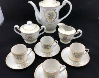 Floral Tea Set from Occupied Japan - 11 Piece Set