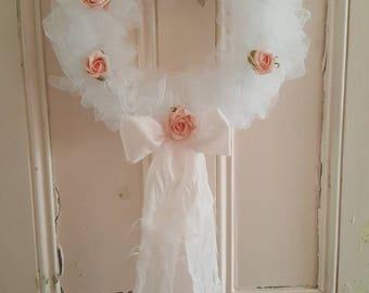 Shabby tutu tulle wreath