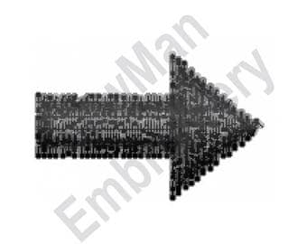 Arrow - Machine Embroidery Design