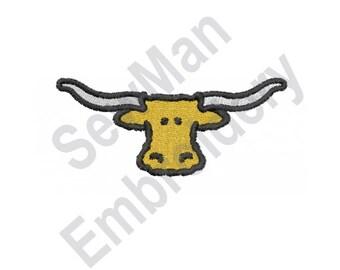 Longhorn - Machine Embroidery Design, Steer, Bull