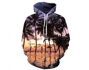 Tree Hoodie, Outdoor Hoodie, Tree Sweatshirt, Nature Hoodie, Art, Hoodie Art, Hoodie Pattern, Pattern Hoodie, Hoodie, 3d Hoodie - Style 17
