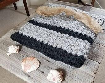 Warm crochet throw