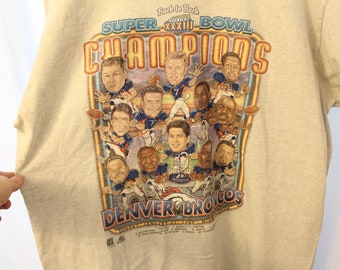 Vintage 1999 Double Sided Broncos Superbowl XXXIII Back-to-Back Tee - XL