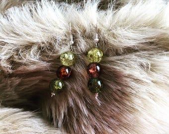 Lime Green Drop Bead Earrings