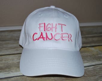 Fight Cancer cap,  Breast Cancer gifts, Custom Embroidered Caps,  Ladies's caps,   Monogramed caps,   Personalized Cap,  Breast cancer caps