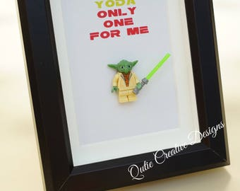 Star Wars, Lego, Lego minifigures, Yoda for daddy, husband, birthday, anniversary, valentine gift inspired by LEGO