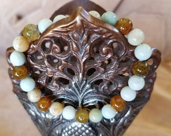 Amazonite and Gold Sandstone Gemstones