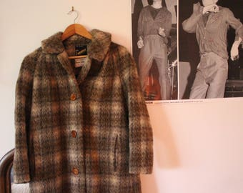 Vintage Real Llama Fur Calf Length Coat