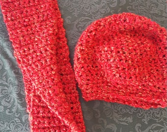 Simple Super Warm Hat and Scarf Set