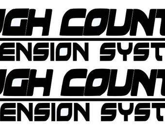 ROUGH COUNTRY SUSPENSIONS  racing dodge ford sticker (#330)