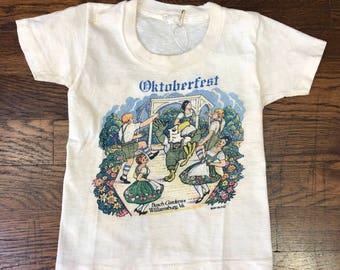 "Vintage 1970s Youth ""Oktoberfest, Williamsburg VA"" T-shirt"