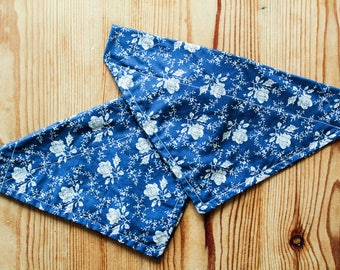 Pretty Blue Floral Doggy Scarf