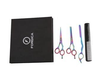 Professional Scissors Barber Salon Shears Hairdressing Set Cutting+Thinning 5.5