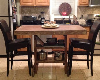 6 foot Lille Kitchen island table