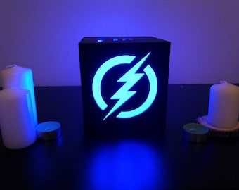 Wood night lamp The flash barry allen/Marvel comics flash/Dc comics gifts/Marvel gifts/Marvel comics gifts/Superhero gifts for women