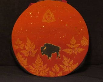 bag or cover Native American or drum shamanic from 42 to 43 cm in diameter