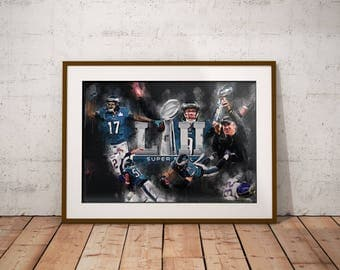 Philadelphia Eagles - Super Bowl 52 - Nick Foles - Zach Ertz - Super Bowl LII - Superbowl 52 - World Champs - Philadelphia - Poster