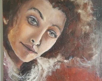 Myrna 0.5 - Oil Portrait on Canvas