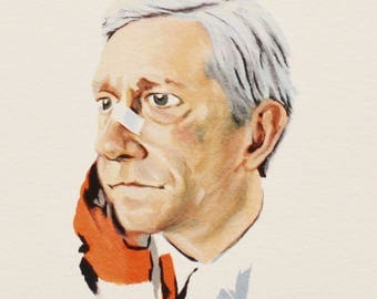 LESTER NYGAARD, Fargo Season One, Martin Freeman, Celebrity Portrait, TV Show Art, Giclee Fine Art Print of Original Gouache Painting