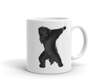 Cute Dabbing Newfoundland Mug Funny Dab Dance Dog Gift