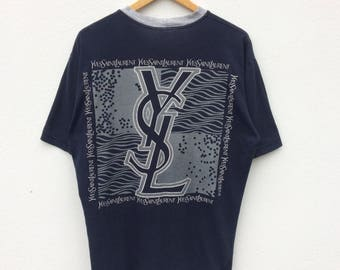 Vintage yves saint laurent 90s big logo spell out rare design!!!