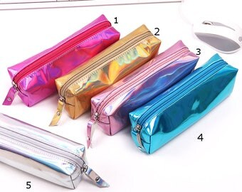 Holographic Shiny Pencil case - 5 colors