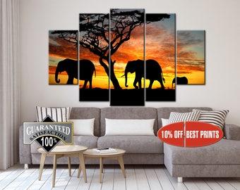 Elephant Canvas, Elephant Wall Art, Elephant, Elephant Wall Decor, Elephant art, Animal Decor, Animal Canvas, Animal Poster, Animal Print