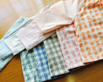 12-24months Baby blouse, Baby blouse, Baby apron <light pink>