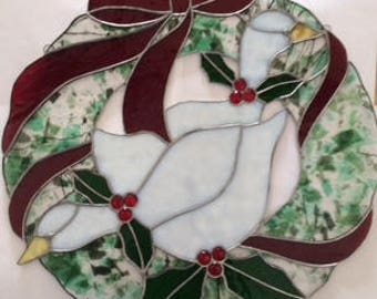 Dove Christmas Wreath