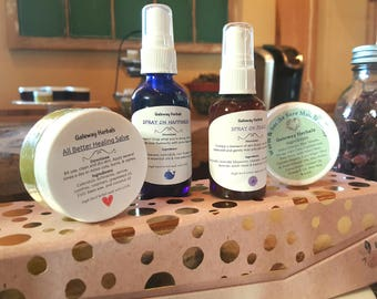 Combination Herbal Spray and Salve Gift Boxed Set