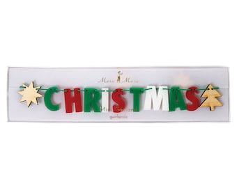 Merry Christmas Bunting | Christmas Decoration | Christmas Garland | Christmas | Garland | Bunting | Merry Christmas Garland