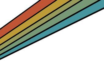 Retro Rainbow - Wall Art Digital Download