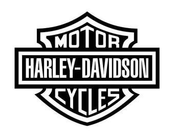 Harley Davidson Decals Etsy - Harley davidsons motorcycles stickers