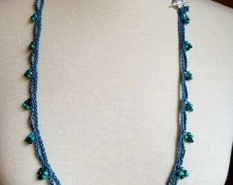 Beaded Necklace/Crochet Necklace/Beaded Crochet Necklace/Gift For Her