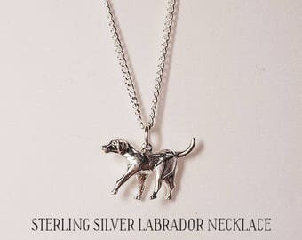 Sterling Silver Labrador Necklace
