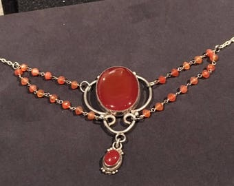 Carnelian with Sterling Necklace